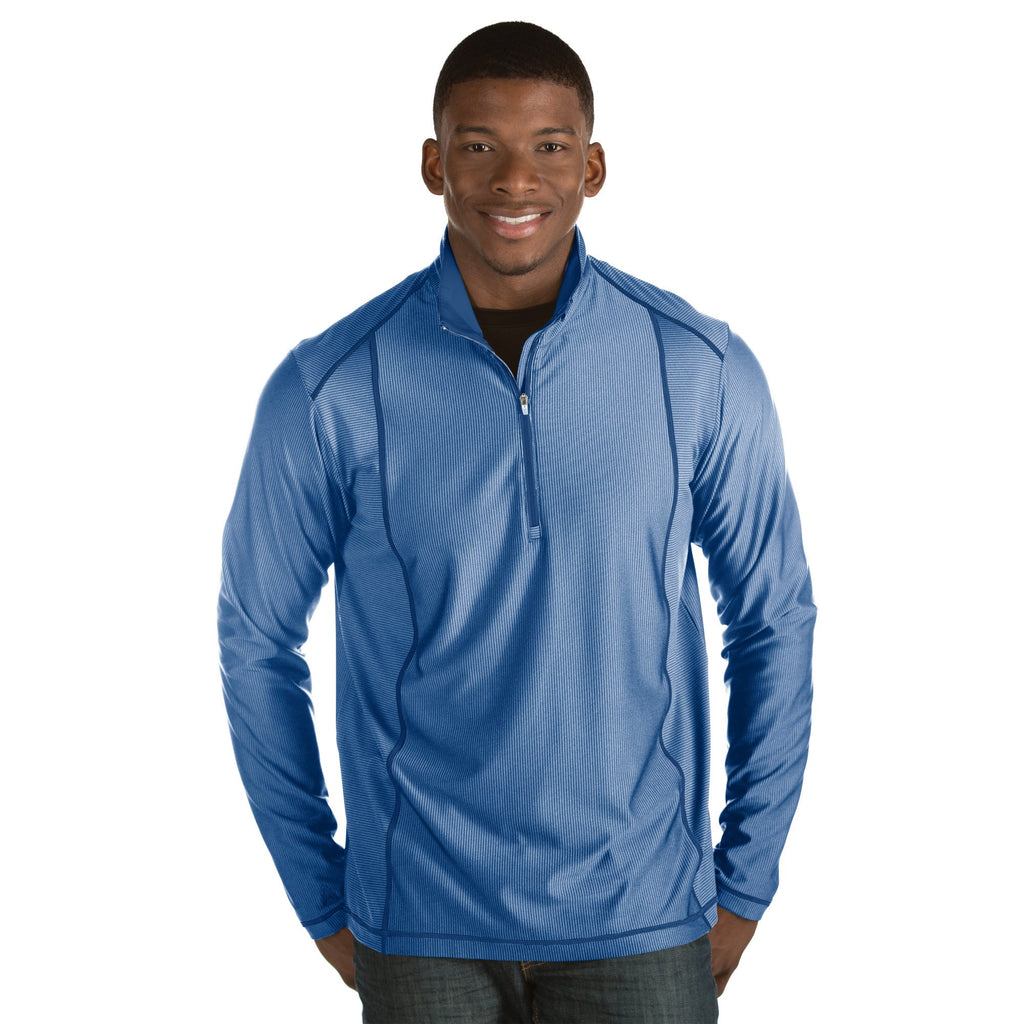 Men's Antigua Tempo Pullover Dark Royal / Heather