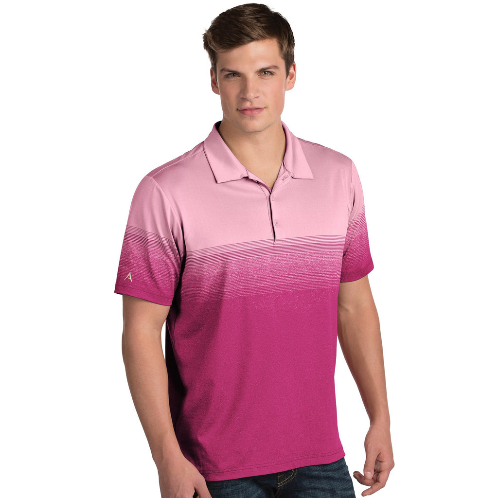 Men's Antigua Track Polo Rosewood / Radish