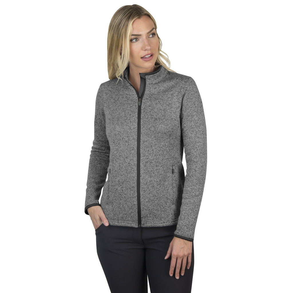 Women's Antigua Clover Jacket Black Heather Multi