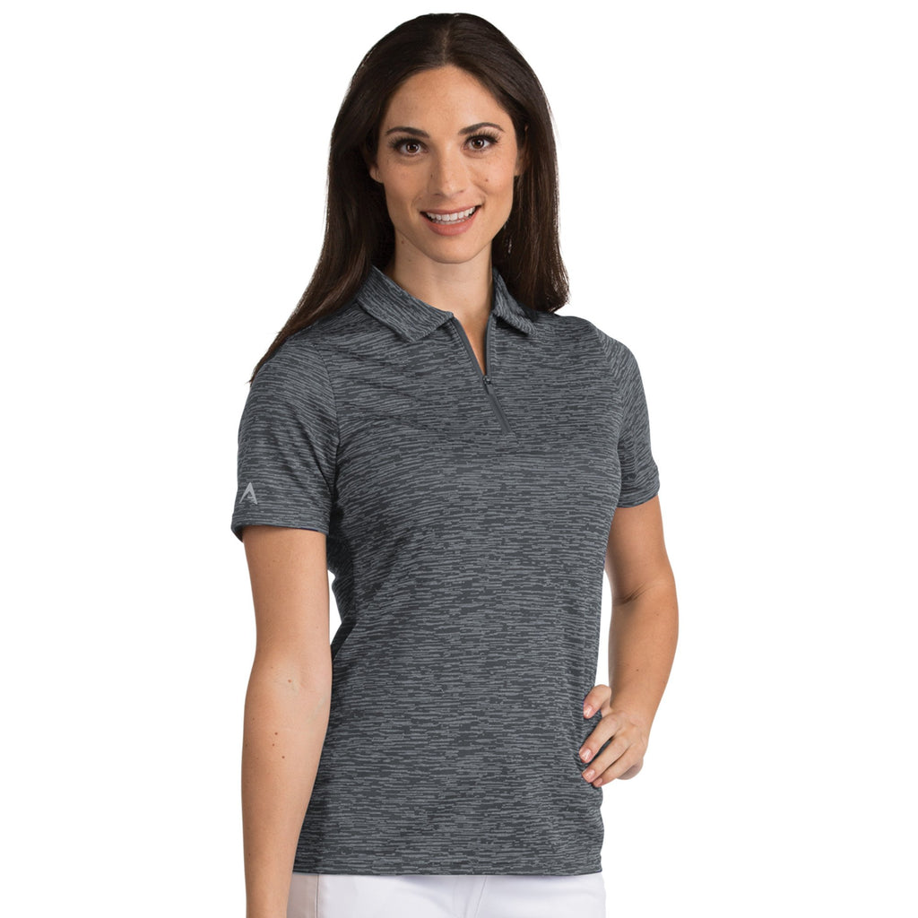 Women's Antigua Hologram Polo Iron Heather