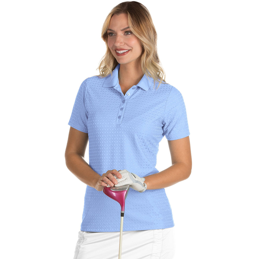 Women's Antigua Pearl Short Sleeve Polo Denim