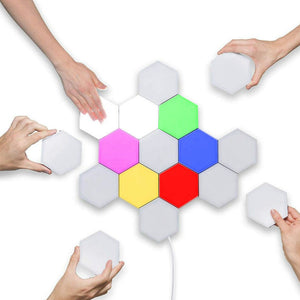 Hexagon Touch Light RGB Color LED Wall Lamp RGB Color