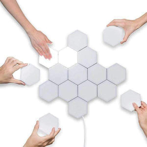 Hexagon Touch Light Modular LED Wall Lamp White