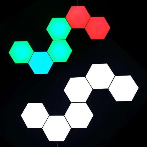 Hex Touch Lights RGB Color Wireless LED Color & White Display - Hex Touch Lights