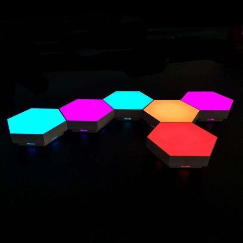 Hex Touch Lights RGB Color Wireless LED Profile View - Hex Touch Lights