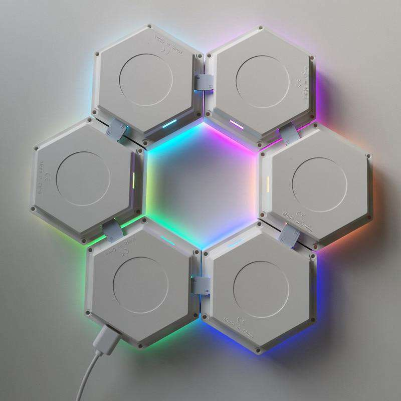 Hex Touch Lights RGB Color Wireless LED Nano Connection- Hex Touch Lights