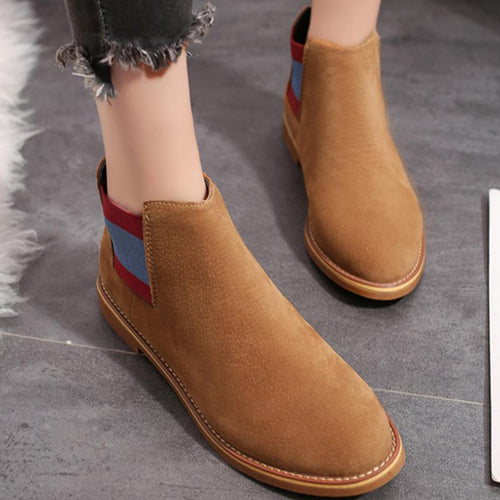 Women Vintage Style Casuals Round Toe Boots