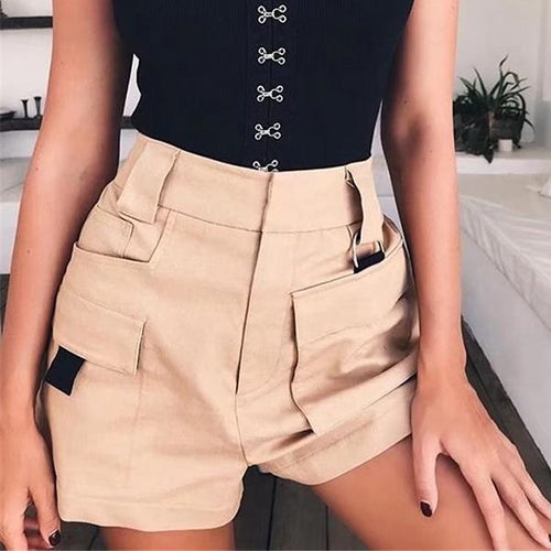 Casual High Waist Wild Leg Short Pants