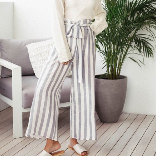 Fashion Stripe Wide-Legs Pants