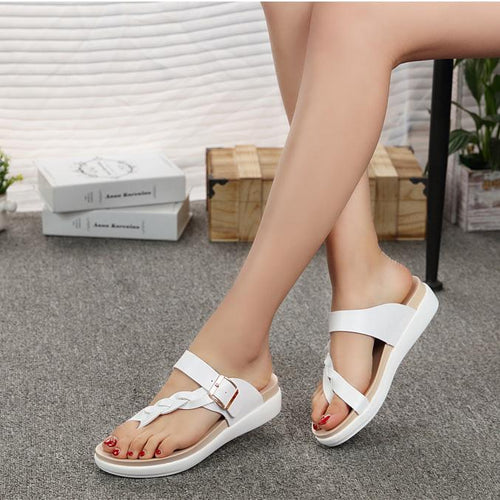 Flat Sandals Women's Fashion Braided Ladies Slipper