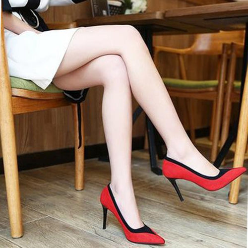 Sexy Pointed Color Matching High Heel Pumps