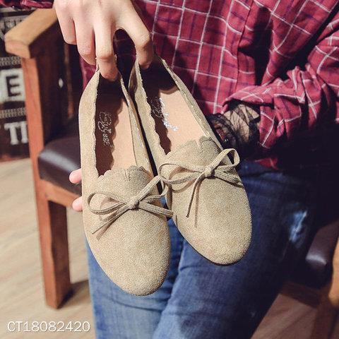 Sweet Bow-Knot Printed Casual Flat & Loafers
