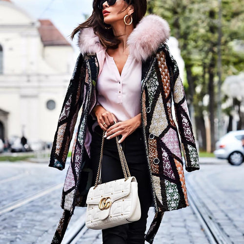 Fashion Printed Long Sleeve Outerwear