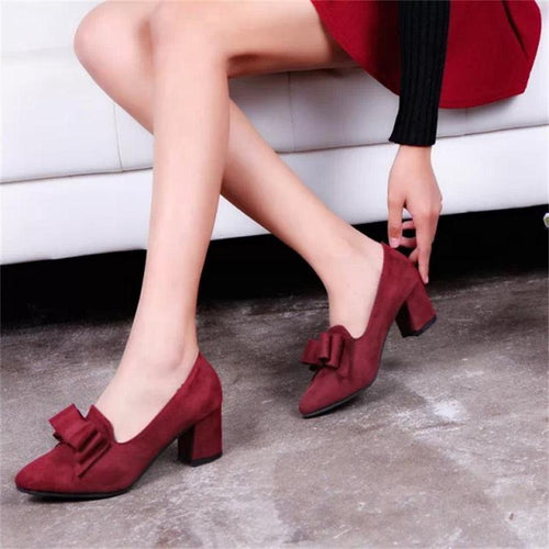 Plus Size Women Wedge Pump Shoes