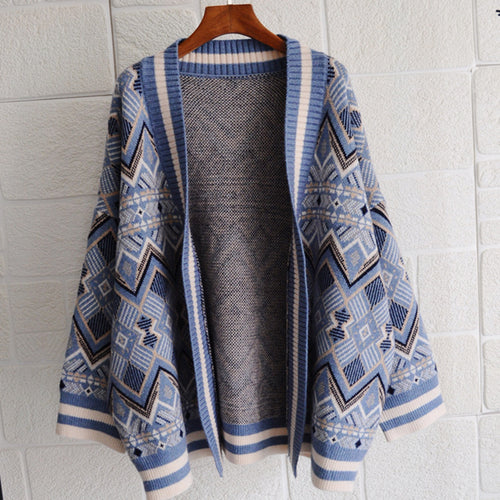 Vintage Loose Thick Knit Cardigan