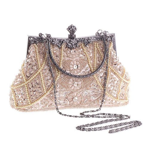 Vintage Beaded Portable Banquet Bag