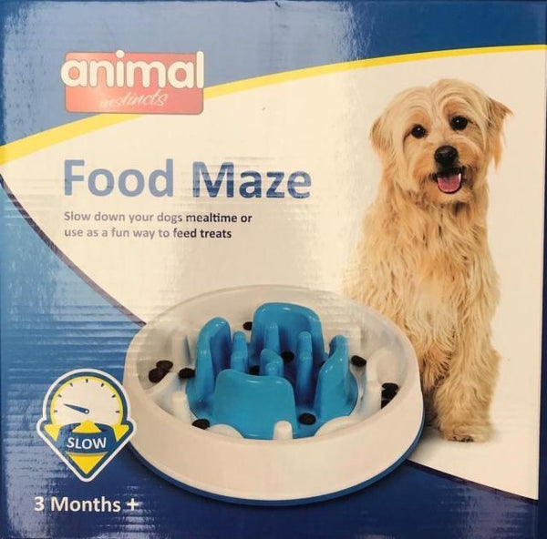 Animal Instincts Dog Slow Feeder Maze Puzzle - Anti Gulp Slows Down Feeder - Slow Feeders - Xtra Dog