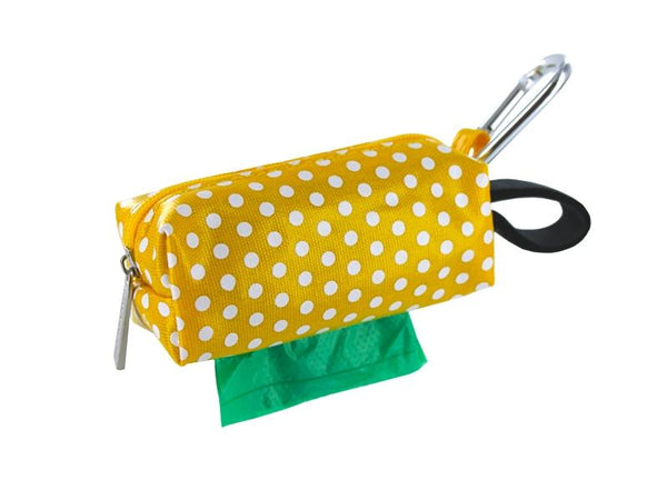 DogBag Colour Block Duffel (Large) Poo Bag Dispenser - Yellow Dot - Poo Bags - Xtra Dog