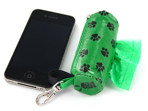 DogBag Duffel Poo Bag Dispenser (Large) - Green Paw - Poo Bags - Xtra Dog