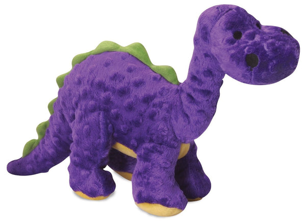 goDog Bruto Brontasarus Purple with Chew Guard Technology - Plush Toys - Xtra Dog