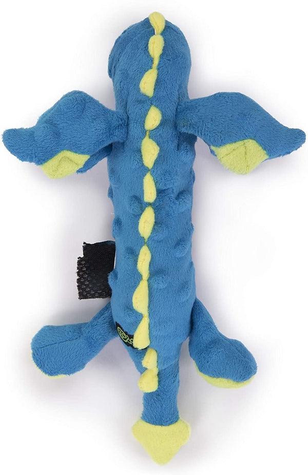 goDog Skinny Dragon Blue with Chew Guard Technology - Plush Toys - Xtra Dog