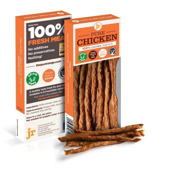 JR Pure Chicken Sticks, 50g - Treats - Xtra Dog