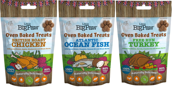 Little BigPaw Treat Taster Pack,130g of each flavour - Treats - Xtra Dog