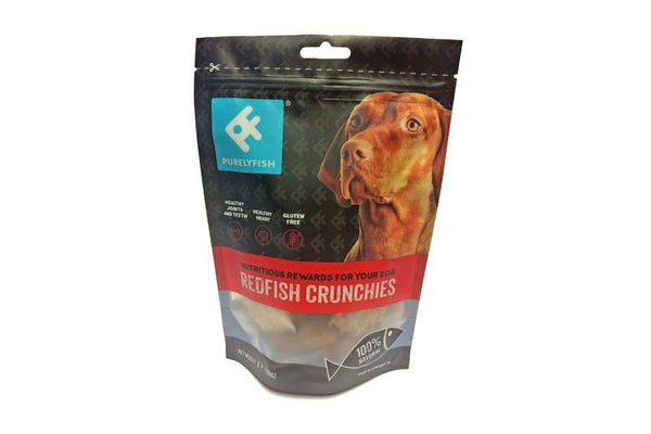 Purely Fish - Redfish Crunchies Treats 100g - Treats - Xtra Dog
