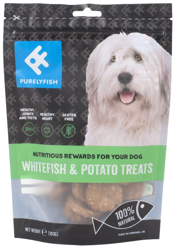 Purely Fish - Whitefish and Potato Treats100g - Treats - Xtra Dog
