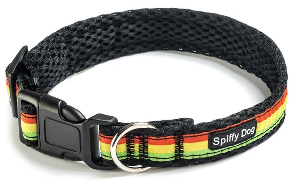 Spiffy Dog, Black Rasta Collar - Collars - Xtra Dog