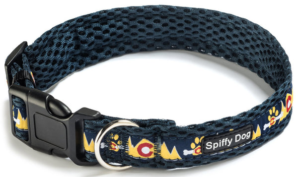 Spiffy Dog, Navy Mountains Collar - Collars - Xtra Dog