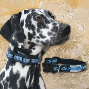 Spiffy Dog, Navy Waves Collar - Collars - Xtra Dog