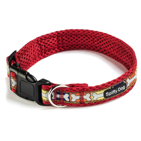 Spiffy Dog, Red Bones Collar - Collars - Xtra Dog