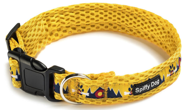 Spiffy Dog, Yellow Mountains Collar - Collars - Xtra Dog