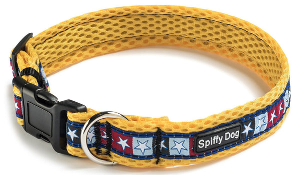 Spiffy Dog, Yellow Stars Collar - Collars - Xtra Dog