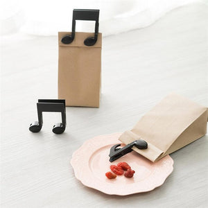 2PCS Black Musical Clips for Storing Food
