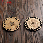 Water Lily and Lotus Wooden Coasters
