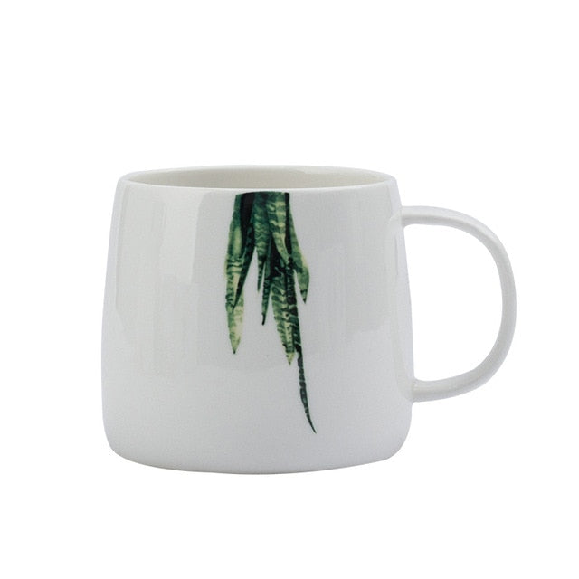 Succulent Themed Ceramic Mugs