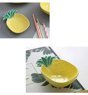 Tropical Pineapple Ceramic Bowls