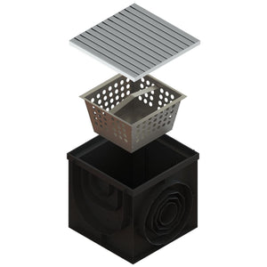 16x16 Catch Basin Stainless Grate ADA/Heel Proof