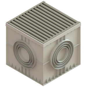 22x22 Catch Basin Stainless Grate (ADA/Heel Proof)