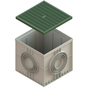 22x22 Catch Basin Plastic Grate (Green)