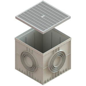 22x22 Catch Basin Plastic Grate (Gray)