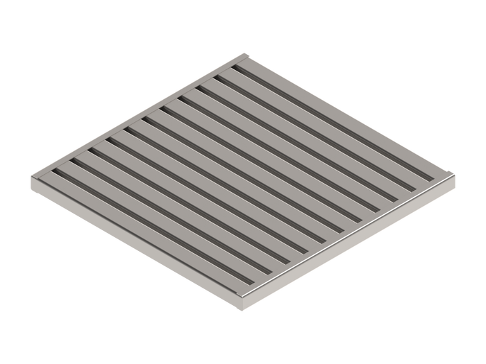 16x16 STAINLESS STEEL ADA/HEEL PROOF GRATE