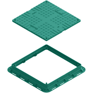 Manhole Cover Square (Green)