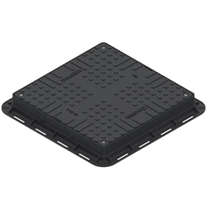 Manhole Cover Square (Black)