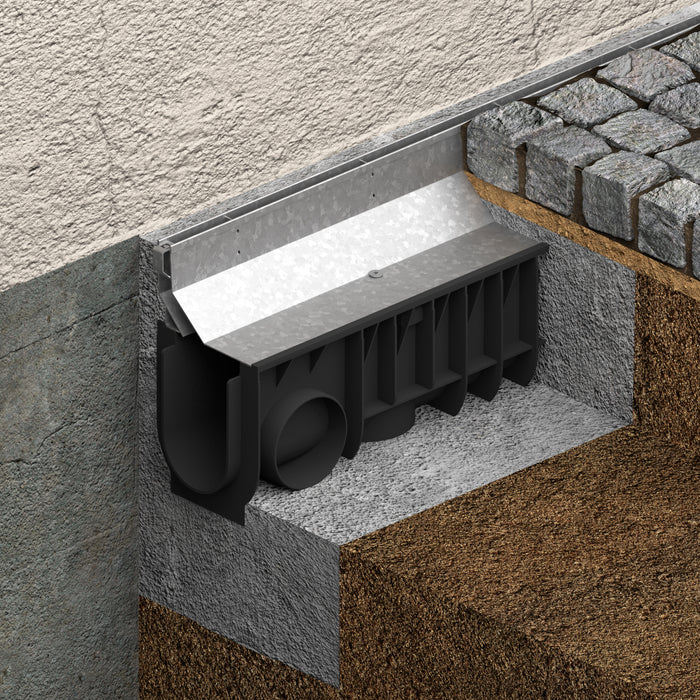 GALVANIZED SLOT DRAIN SYSTEM (WALL)