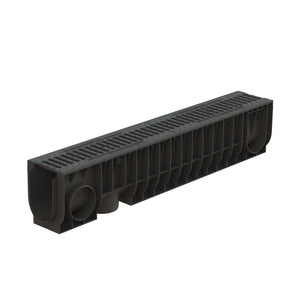 "4"" Basic PolyMax® trench drain w/ cast iron grate, C class"