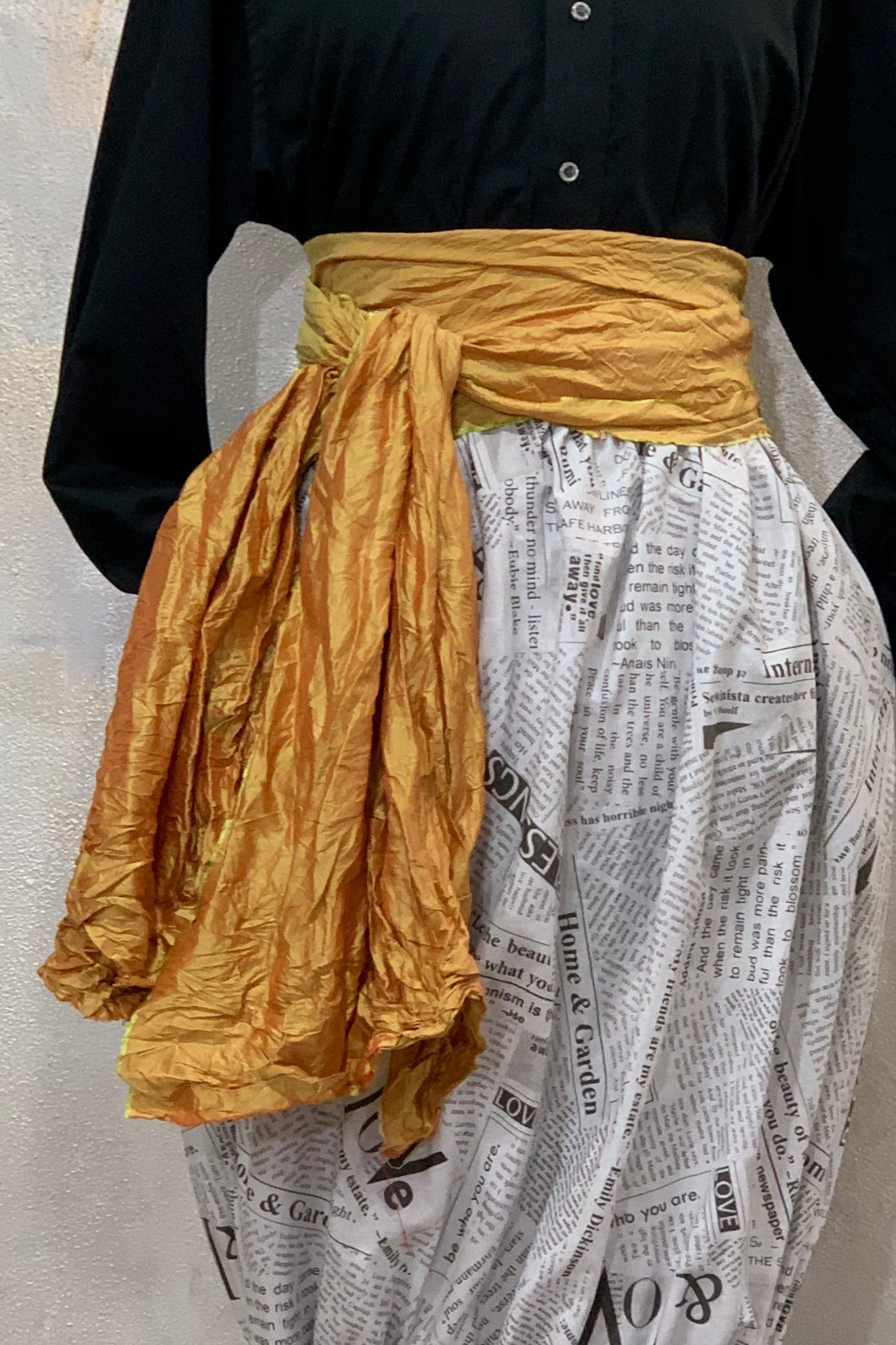 Waisted Silk Scarf/Belt