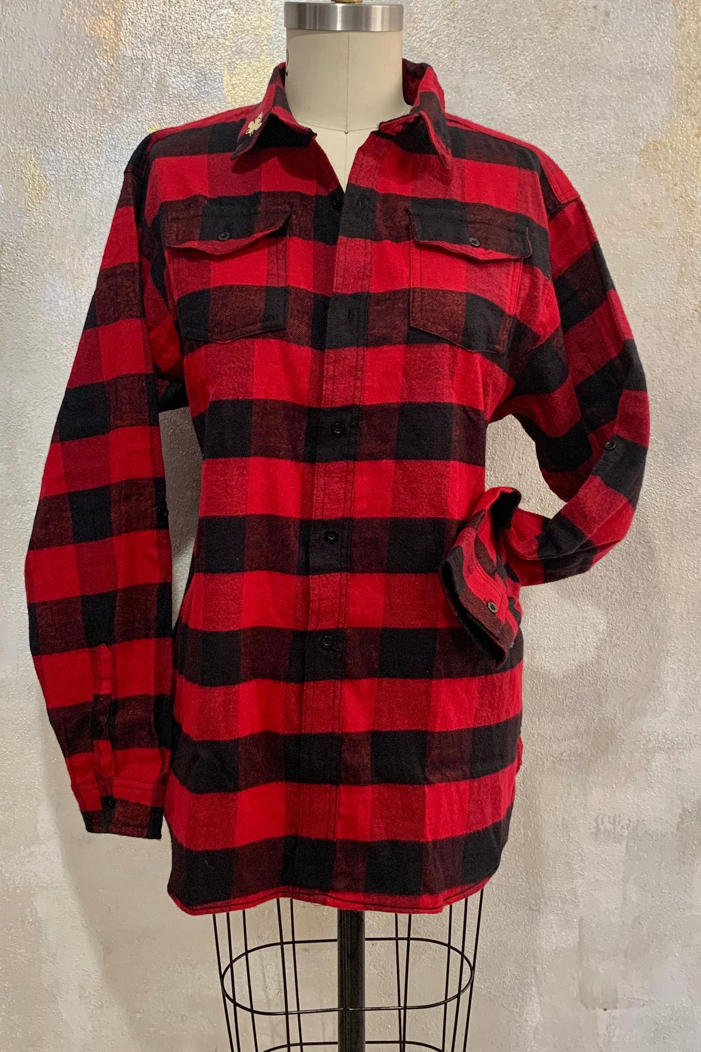 Grandpa's B's Red Flannel Shirt